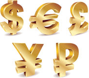 Currency Symbols royalty free illustration