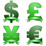 Currency symbols Royalty Free Stock Photos