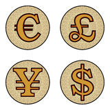 Currency symbols Stock Photography