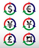 Currency symbols. Royalty Free Stock Photos