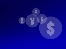 Currency Symbols Background Stock Photo