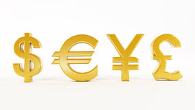 Currency symbols Royalty Free Stock Images