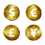 Currency symbols hand drawn set. Stock Images
