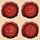 Currency symbols stock illustration