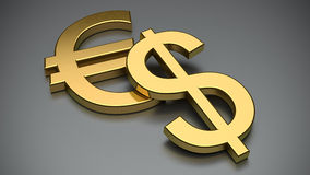 Currency. Symbols over neutral background Stock Images