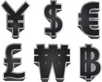 Currency symbols Royalty Free Stock Photo