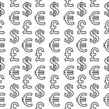 Currency symbols seamless pattern Stock Image