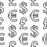 Currency symbols seamless pattern Royalty Free Stock Photo