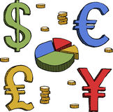 Currency symbols Stock Image