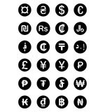 Currency symbols of the world. Isolated on white background Royalty Free Stock Image