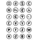 Currency symbols of the world. Isolated on white background Royalty Free Stock Photography