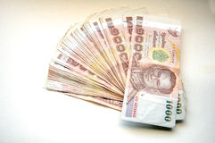 Currency of Thailand (THB) Stock Photo