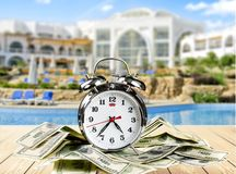 Currency. Time Clock Checking the Time Urgency Alarm Clock Danger stock photography