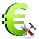 Currency tools symbol. Illustration design over white Royalty Free Stock Images