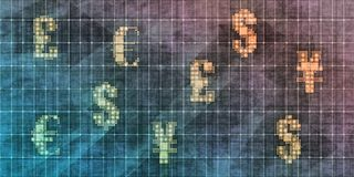 Currency Trading Grunge Wallpaper royalty free stock photography