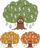 Currency Trees vector Royalty Free Stock Photo