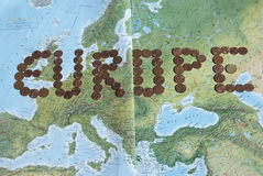 Currency trend and Europe Royalty Free Stock Images