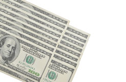 Currency U.S. 16 one hundred dollar bills Stock Image