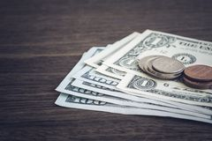 Currency, US Dollar Money Earning Or Payment. Stock Photo