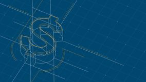 Free Currency USD United States Dollars Isometric Symbol Dot And Dash Line Frame Structure Pattern Wireframe, Digital Money Royalty Free Stock Photography - 145458577
