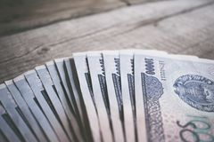 Currency of Uzbekistan. Uzbek money. Money banknote of the country Uzbekistan stock photos