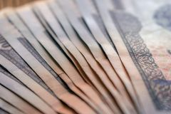 Currency of Uzbekistan. Uzbek money. Money banknote of the country Uzbekistan royalty free stock photo