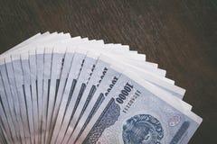 Currency of Uzbekistan. Uzbek money. Money banknote of the country Uzbekistan Stock Photography