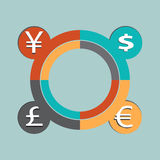 Currency vector illustration Stock Photography