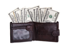 Currency in wallet Stock Photography