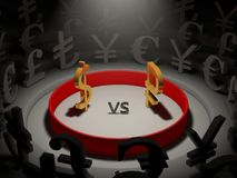 Currency war. Stock Images