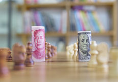 Currency war Stock Photos