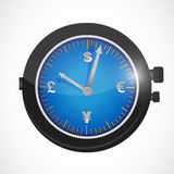 Currency watches illustration design Royalty Free Stock Images