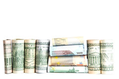 ,currency, white background Royalty Free Stock Image