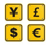 Currency yellow sign Royalty Free Stock Image