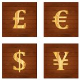Currensies symbols Royalty Free Stock Photos