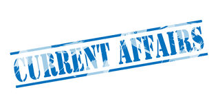 Current affairs blue stamp Stock Photography
