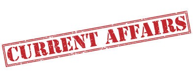 Current affairs red stamp Stock Photography