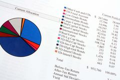 Current Asset Allocation Royalty Free Stock Photos