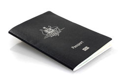 Current Australian passport Royalty Free Stock Photography