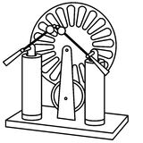 Current generator. Vector Illustration of current generator in white background Royalty Free Stock Photos