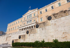 The current Hellenic Parliament building, Old Royal Palace. The front facade of the current Hellenic Parliament building, Old Royal Palace Royalty Free Stock Photography