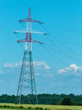 Current keys of a high-voltage line Royalty Free Stock Images