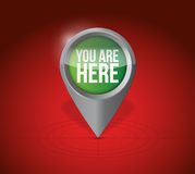 Current location pointer illustration design Royalty Free Stock Photography