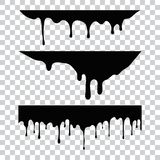 Current paint, stains. Current drops. Current inks. royalty free illustration