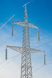 Current pylon covered Stock Images