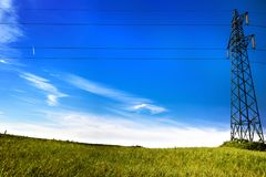 A Current pylon Royalty Free Stock Images