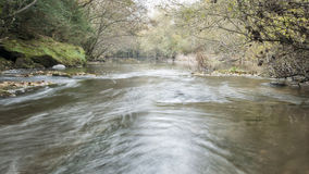 Current of the river in autumn Royalty Free Stock Photography