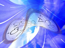 Current time. Abstract scene slow current time Royalty Free Stock Images