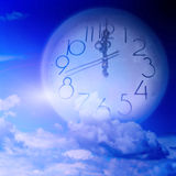 Current time. Abstract scene slow current time Stock Images