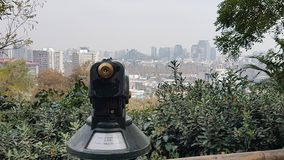 Santiago Zoo. Current view of santiago from the zoo at midday Royalty Free Stock Photo